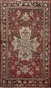 Antique Traditional Hand-knotted Area Rug Floral Oriental Home Decor Carpet 4x7
