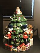 Spode Christmas Tree Hand Painted Cookie Jar 12.5. Excellent Condition.