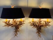 Mid Century Modern Sconces Pair 60andrsquo 70andrsquo Painted Iron Custom Shade And Stunning