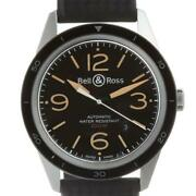 Bell And Ross Vintage Sports Heritage Br123-93 Ss Black Dial Menand039s [e1009]