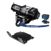 Winch Kit 2000 Lb For Polaris 800 Ranger Full-size 4x4 2010-2014 Steel Cable