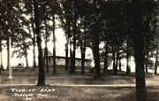Rppc, Tourist Camp, Dubuque, Iowa, Old Vintage, Stamped 1938 Postcard A97