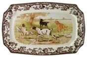Spode Woodland Hunting Dogs Platter 17.5in. .