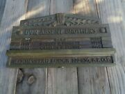 Antique Brass Elks Lodge Bpoe Sign Plaque Bloomsburg Pa Lodge Absent Brothers