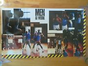 Promotional Nike Men At Work Poster Moses Malone Charles Barkley 76ers