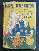 Antique Mcloughlin Child Book 20andrsquos 3 Little Kittens Mary Lamb Art Illustration