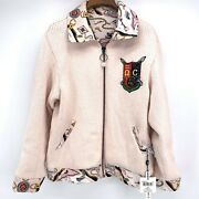 Nwt Opening Ceremony Sorority Print Reversible Knit Jacket Pearl Pink Size 6