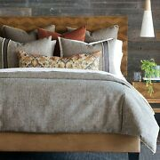 Eastern Accents Muir Luxury Mid Century Neutral Woven King 7 Piece Bed Set