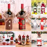 Fengrise Santa Claus Wine Bottle Cover Christmas Decorations For Home 2020