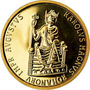 [902737] Coin Belgium Charlemagne 50 Ecu 1989 Ms Gold Km174