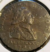 Great Britain 1795 Half-penny Middlesex Duke Of York Fine Condition