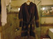 Vintage Wool Military Blanket Soldier Made To Trench Art Hooded Poncho Jacket
