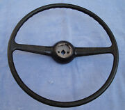 New 1940 Ford Steering Wheel - Authentic Hard Rubber Original Style And Detail