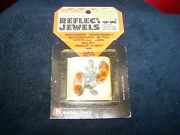 Vintage New License Reflector Amber In Package