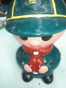 Vintage Ceramic Boy Scout Bank Made In Britain