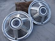 Vintage Ford Mustang Hubcaps 1965 2 Nice Ones For 14 Wheels.