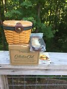 Longaberger Collectors Club Small Saddlebrook Basket/purse/protector.new In Box