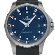 Corum Admiraland039s Cup Legend 47 403.100.04 Stainless Steel Black Dial Mens [e1012]