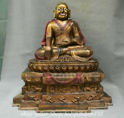 20 Collect Old Chinese Bronze Gilt Je Tsongkhapa Buddha Statue Sculpture