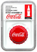 2018 Fiji Coca-cola Bottle Cap-shaped 6 G Silver Ngc Pf70 Uc First Release