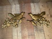 Vintage 1967 Homco Dart Syroco Ornate Bird And Flower Wall Hanging