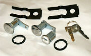 Ford Mustang 1964 1965 1966 Door And Ignition Lock Set And 2 Keys Galaxie T-bird Etc