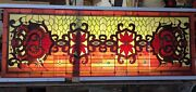 Large Stained Glass Leaded Window/panel/multicoloured