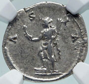 Hadrian Travels To Asia Authentic Ancient 134ad Silver Roman Coin Ngc I86628