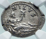 Hadrian Travels To Nile Authentic Ancient 134ad Silver Roman Coin Ngc I86629