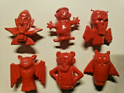 Vintage Boo Berry Count Chocula Frankenberry Pencil Toppers General Mills Red