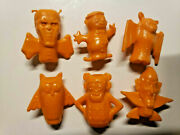 Vintage Boo Berry Count Chocula Frankenberry Pencil Toppers General Mills Orange