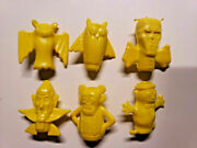 Vintage Boo Berry Count Chocula Frankenberry Pencil Toppers General Mills Yellow