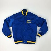Vtg Nfl Los Angeles Rams Quilted Starter Satin Jacket Adult Small