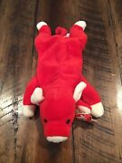 Rare Ty Beanie Baby Snort The Bull 1995 Tag Errors