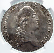 1789 Germany German Saxony Elector Fred Augustus Silver Thaler Coin Ngc I86551