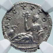 Hadrian Travels To Egypt Authentic Ancient 134ad Silver Roman Coin Ngc I86627