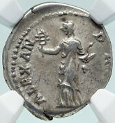 Hadrian Travels To Alexandria Authentic Ancient Silver Roman Coin Ngc I86554