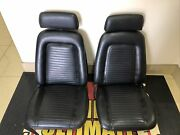 1967 -69 Camaro Bucket Seats Black Leather In Good Condition. This Are Classic