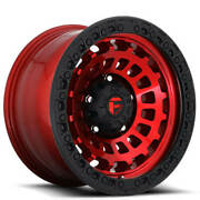 20x10 Fuel Wheels D632 Zephyr 8x180.00 Candy Red Black Ring Off Road -18 S44