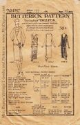 Vintage Sewing Pattern Butterick 1187 1920s Day And Evening Dress Pattern 48 Bust