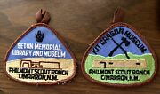 Pair Of Nos Bsa Philmont Scout Ranch Cimarron, New Mexico Museums Patches