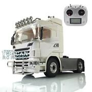 Lesu 1/14 44 Metal Scania Chassis Sound Hercules Rc Tractor Truck Radio Lights