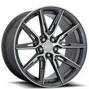 4ea 20 Staggered Niche Wheels M220 Gemello Gloss Anthracite Machineds44