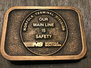 Norfolk Southern Ns Norfolk Terminal Divison Belt Buckle Our Main Is Safety Rr