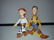 Disney Toy Story Thinkway Woody And Jessie Cowgirl Pull String Talking Doll Lot