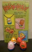 Vintage Gumball Roly Poly Necklace Charms Lot Of 8 Vending Machine Toys Nos