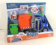 Kideo Blippi 3 Action Figure And Recycling Trash Truck Sound Vehicle Kids Toy Car