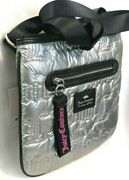 Nwt Juicy Couture Silver Quilted Large Crossbody Messenger Bag