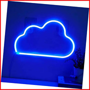 Cloud Neon Light Signs - Blue Led Cloud Neon Sign Wall Decor Neon Lamp Operated