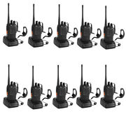 10x Baofeng Bf-888s Uhf 400-470mhz 16channel Handheld Portable Two Way Radio